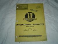 IH International Farmall series 100 130 200 230  tractor repair service manual