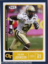 CALVIN JOHNSON ROOKIE CARD LOT (2): 2007 SAGE HIT (#61) &  SAGE DECADENCE (#2)
