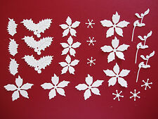 "24 Tattered Lace Die Cut Filigree ""Christmas Floral"" Embellishments"