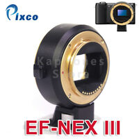 Pixco EF-NEX Auto Focus Adapter Canon EOS Lens to Sony E A9/7/7R/6300/6500/6400