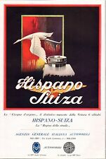 PUBBLICITA' 1921 AUTO HISPANO SUIZA CICOGNA D'ARGENTO MASCOTTE  STEYR