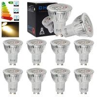 Buy 3 Get 1 Free 4x High Power 6W GU10 LED Bulbs Spotlight Warm White Light 50W