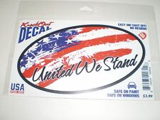 Knock Out Decal   American Flag  United We Stand    NIP