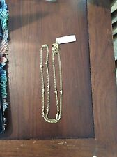 Michael Kors Gold Tone Glam Rock Pyramid Station Necklace Nwt. LAST ONE!