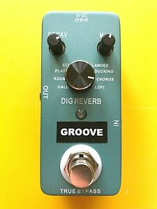 GROOVE Digital Reverb GR1 guitar effects pedal with true by-pass