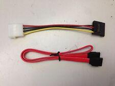 **NEW**SATA ATA RAID Hard Drive Cable + SATA Power Adapt Cable