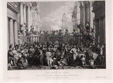 LES NOCES DE CANA  28X18 Gravure sur chine  1860