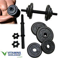 40 LB DUMBBELL SET WEIGHT Adjustable Cast Hand Lifting Body Fitness Workout