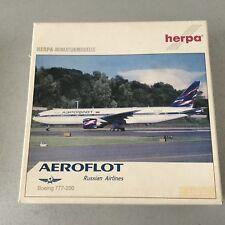 90s# VINTAGE HERPA RUSSIAN AEROFLOT  Boeing 777 200 1:400 Scale#NIB