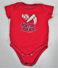 Pine Sports Newborn Infant Boston Red Sox MLB One Piece Diaper Shirt sz 3-6 m