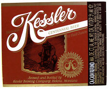 Kessler Brewing NICHOLAS KESSLER CENTENNIAL BEER label MT 12oz