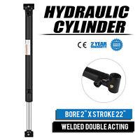 "Hydraulic Cylinder 2"" Bore 22"" Stroke Double Acting Garden Equipment Steel"