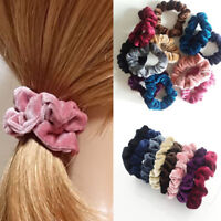 5pcs/set  Velvet Elastic Hair Rope Tie Scrunchie Ponytail Holder Women Hairband