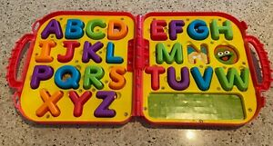 Sesame Street Elmo on the go ABC alphabet carry case replacement letters