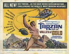 TARZAN AND THE VALLEY OF GOLD Movie POSTER 22x28 Half Sheet Mike Henry David