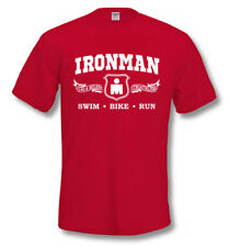 IRONMAN 140.6 Swim Bike Run TRIATHLON T SHIRT Gym Training Fitness, SIZES TO 4XL