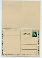 HITLER-ENTIER POSTAL-DEUTSCHES REICH-50 DM-RECTO-VERSO-1943