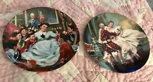 The King and I Collector's Plates Series Set of 2 William Chambers Knowles 1985