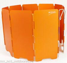 Vango Gas Campeggio Fornello Pieghevole Parabrezza-Arancione
