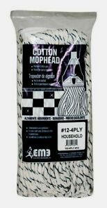 Elite #12 COTTON MOP HEAD Absorbent Commercial Bathroom Kitchen 102-4PLY-#12 NEW