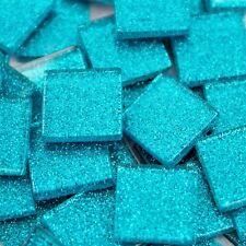 Glitter Tiles 23x23mm - Blue x 36pc