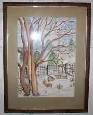"""VINTAGE SIGNED PAINTING  - PROFESSIONALLY FRAMED  19 1/2"""" X 15"""""""