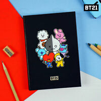 BTS BT21 Official Authentic Goods Hologram Hardcover Notebook By Kumhong