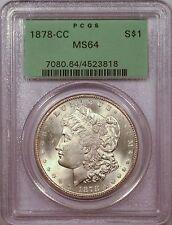 1878-CC $1 Morgan Silver Dollar PCGS MS64 PQ OGH