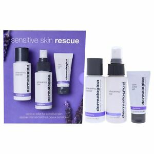 Dermalogica Sensitive Skin Rescue 3 Pc Kit for Women- 05oz Calm Water Gel & More