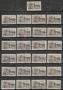 25 SILVER CENTENNIAL #1130 Used & Cancelled US 1959 Commemorative 4c Stamps