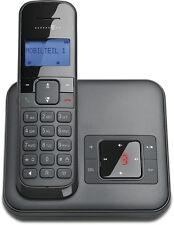 Telekom Sinus CA34 in Schwarz Schnurlos Telefon mit Anrufbeantworter Dect Gerät