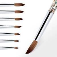 Acrylic Nail Art Brush Manicure Powder 100% Nylon Nail Art Professional Tools