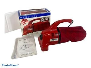Royal Dirt Devil 103 Hand Vac Corded Vacuum Red Sweeper Handheld Made in USA