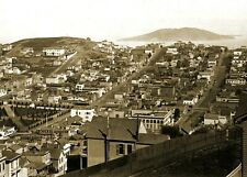 1864 Aerial View of San Francisco PHOTO Vintage California Civil War Era City