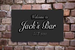 LARGE Personalised Bar Sign, Metal Finish Aluminium Metal Pub Bar Sign Outdoor