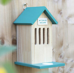 BUTTERFLY HOUSE With Feeding Reservoir Wooden Hanging Garden Decoration 23cm Z