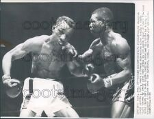 1955 Featherweight Boxers Sandy Saddler vs Teddy Red Top Davis Press Photo