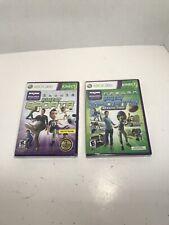 Kinect Sports Season One 1 & Season Two 2 Microsoft Xbox 360 Video Game Lot NEW!
