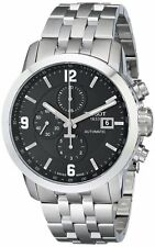 T0554271105700 Tissot Mens PRC 200 Automatic Watch Black Chrono Stainless Steel