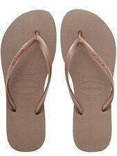 Havaianas Slim Brazil Women's Flip Flops Rose Gold Size US-9/10 EUR-41/42