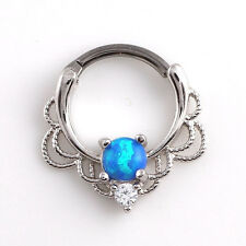 Gold Nipple Bead Septum Lip Medical Opal New Rings Piercing Ring Jewelry Nose