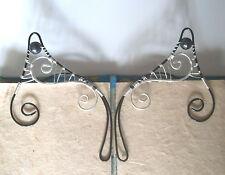 Handmade Black & Silver Plated Elf Ear Cuffs, Pixie Ears. Fantasy Earcuffs