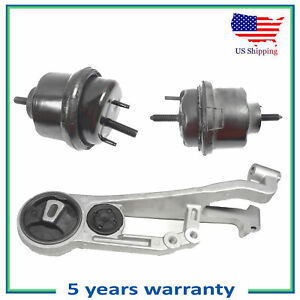 3PCS Motor & Trans Mount For 2005-2007 Ford Freestyle 500 Mercury Montego 3.0L