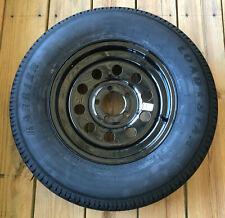 "Kenda Karrier ST205/75R15 Radial Trailer Tire w/ 15"" Black Mod Wheel -5 on 4-1/2"