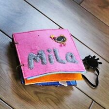 Handmade fleece Quiet Book sensory book activity book for girls personalised
