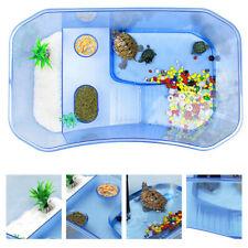 Reptile Turtle Tortoise Vivarium Box Aquarium Tank with Basking Ramp Blue Us