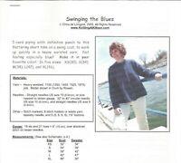 Swinging the Blues Swing Coat Knitting At Noon Instruction Pattern Women XS-XL