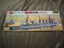 1960s Vintage Japanese WWII Light Cruiser NATORI, Water Line Series by Fujimi