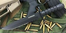 Schrade Combat Bayonet Knife Ar 420J2 Stainless Steel Fixed Blade With Scabbard