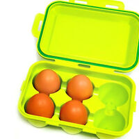For Camping Six Egg Storage Container Plastic Holder Portable Case Outdoor_NV